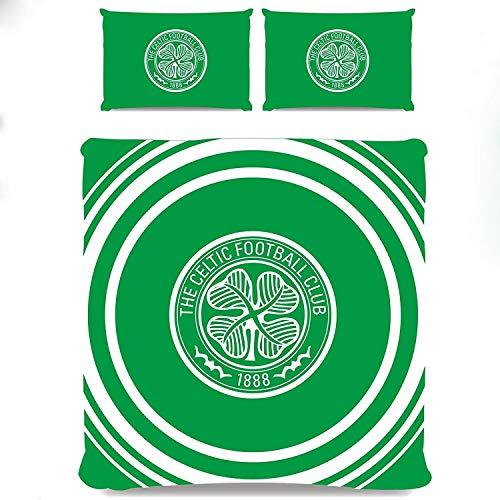 Celtic FC Pulse 2 Piece UK Double/US Full Sheet and Pillowcase Set