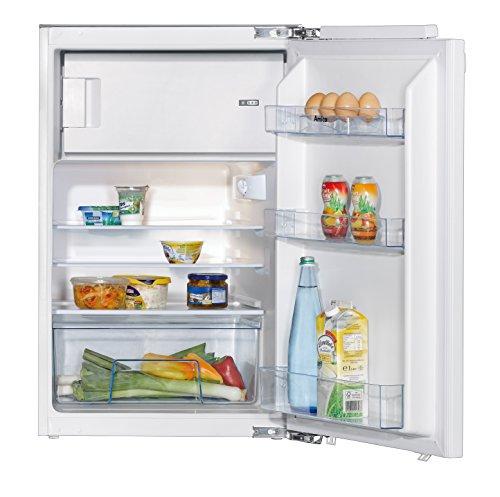 Amica EKS 16181 Kühlschrank/A++ / 87,9 cm Höhe / 146 kWh/Jahr / 124 L Kühlteil / 17 L Gefrierteil/AntiBacteria Beschichtung für optimale Hygiene/Wechselbarer Türanschlag/weiß