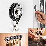 silwy Magnet-Haken mit Metall-Nano-Gel-Pads, wiederverwendbar, flexibel einsetzbar, perfekt für Jacken, Taschen (Black)