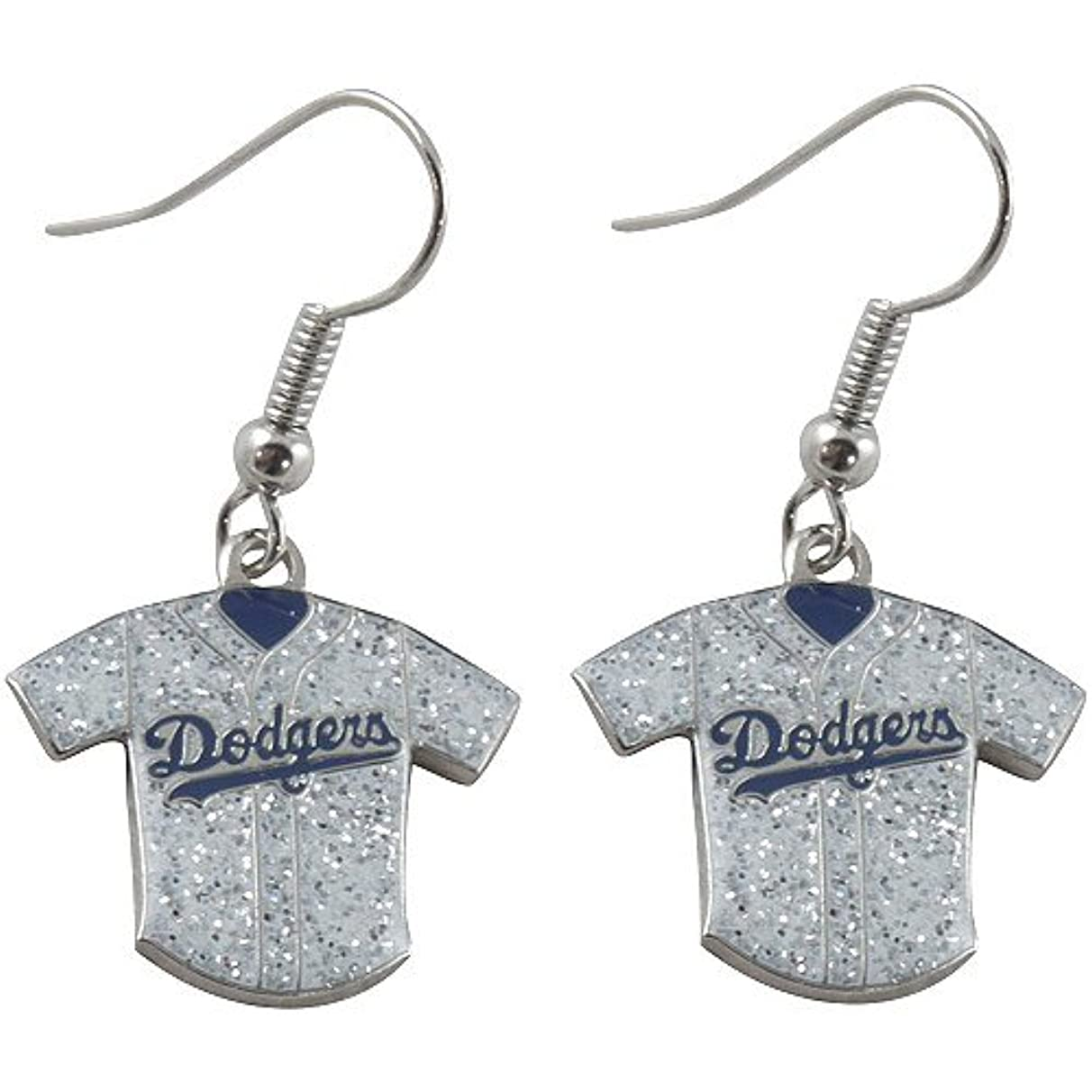MLB L.A. Dodgers Ladies Glitter Jersey Earrings