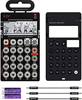 Teenage Engineering PO-33 Pocket Operator KO Sampler/Sequencer Bundle with CA-X Silicone Case 3-Pack of 7  Audio Aux Cables and 2 AAA Batteries