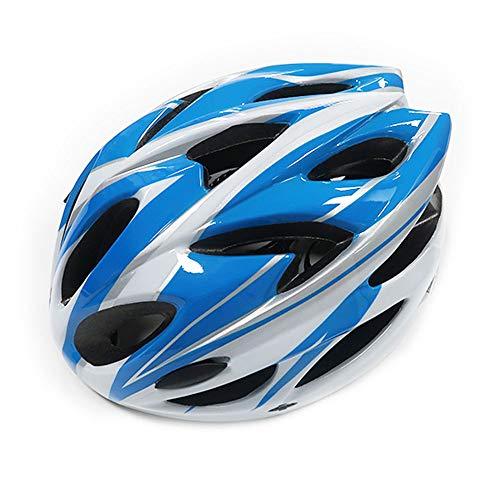 UPANBIKE Fahrradhelm, einteilig, verstellbar, für Erwachsene, Blau/Weiß