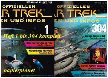 Die offiziellen Star Trek Fakten und Infos Heft 1 bis 304 , = komplett, + 19 Sammelordner