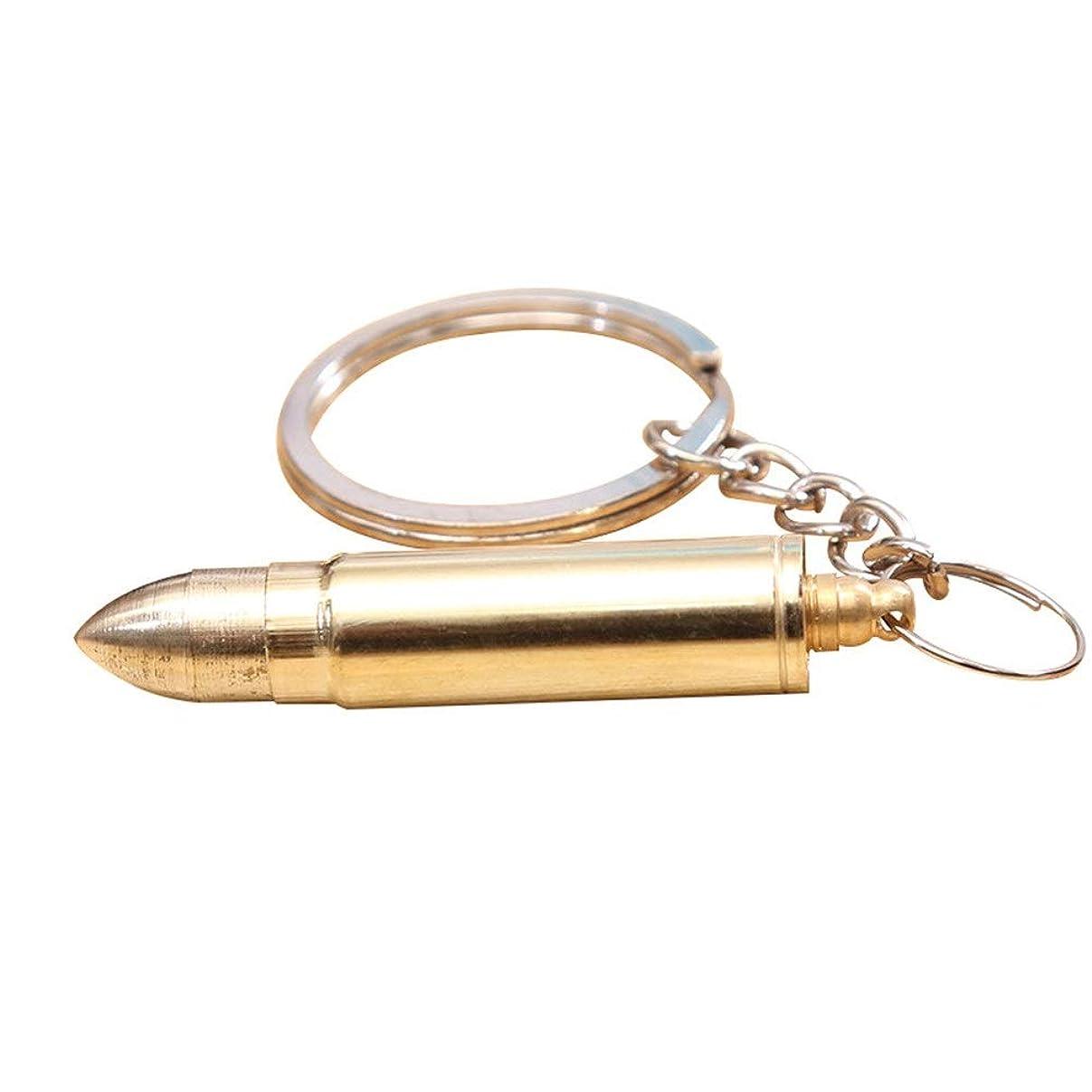 浮浪者ほんの湖ZHQI-GH 弾丸形の耳垢クリーナーポータブル折りたたみ式の耳のワックスの取り外しツール耳のスプーンの耳かき付きキーホルダー27 (色 : Gold, Size : 1pcs)
