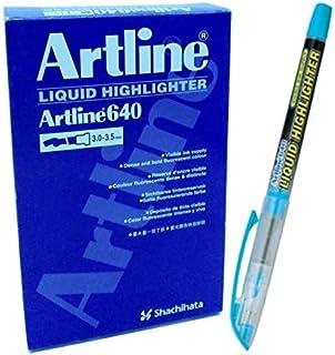 Artline Marker Fluorescent Highlighter EK640 Blue FL. PACK OF 12