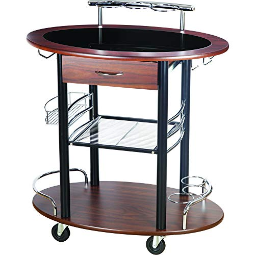 Spread Spain Trolley Bar/Serving/Kitchen Leather Brown Trolley