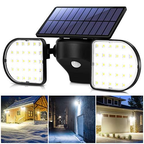 OUSFOT Solarlampen für Außen mit bewegungsmelder 56 LEDs Solarleuchten für außen Solarleuchten Garten Wasserdicht IP65 Einstellbar