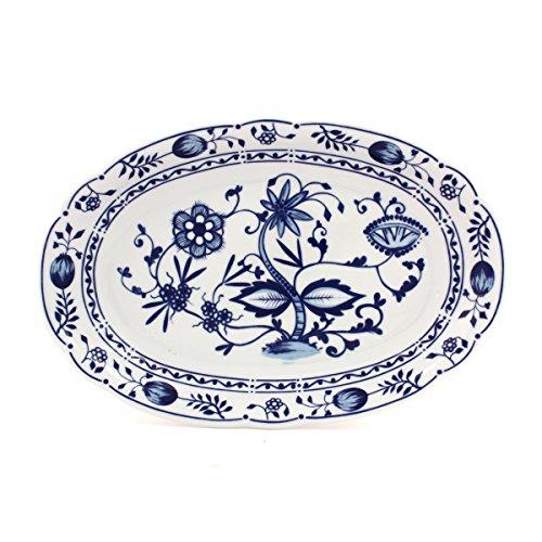 Eschenbach Porcelaine Group Romantika Plat Ovale 32 cm Porcelaine, Motif Oignon, 1 x 1 x 1 cm