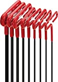 EKLIND 53168 Cushion Grip Hex T-Key allen wrench - 8pc set SAE Inch Sizes 3/32-1/4 (6In shaft)