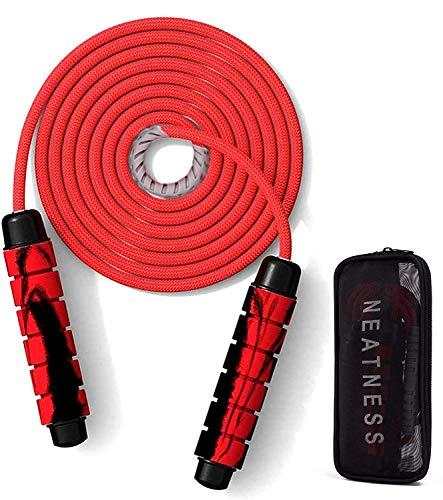 Springseil mit Griffen,Jump Rope,Springseil Speed Rope,Skipping Jump Rope,Seilspringen Sport,Springseil Boxen Fitness,Springseil für Fitnesstraining,Springseil Einstellbares