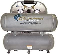 California Air Tools CAT-4610ALFC Ultra Quiet 1 HP 4.6 Gallon Oil-Free Twin Stack Air Compressor