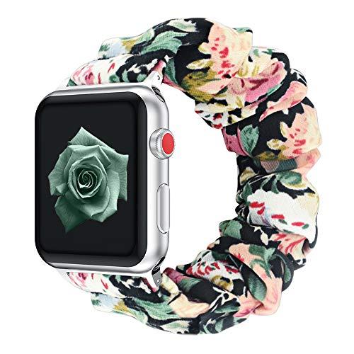 Vozehui Correa elástica compatible con Apple Watch correa de 38 mm, pulsera de tela suave compatible con iWatch Series 6/5/4/3/2/1 mujeres y niñas