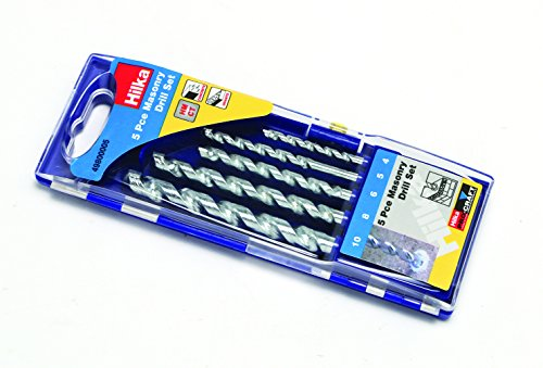 Hilka 49800005 Masonry Drill Bit Set, Set of 5 Pieces