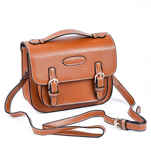 Sunmns Retro Vintage Style PU Leather Case Bag with Shoulder Strap for Fujifilm Instax Mini 11/9/ 8/70/ 26/90 Film Camera, Square SQ6, Polaroid Zip/ Z2300/ Snap, Brown