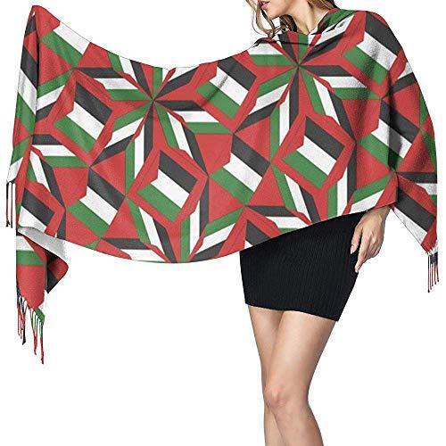 Womens grote sjaal Palestina vlag Artascope bloem zachte kasjmier voelen Pashmina sjaals wraps 27x78 inch