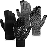 COOYOO Winter Gloves for Women and Men 2 Pairs,Touchscreen Gloves,Running Gloves