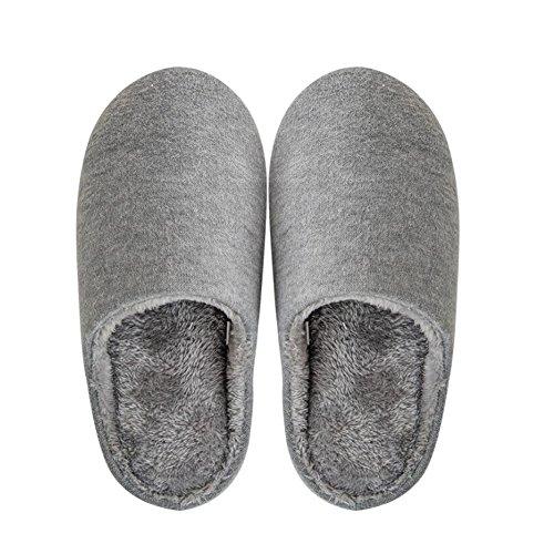Black Temptation Pantoufles pour Hommes Chaussures d'intérieur Confortables Hiver Chaud