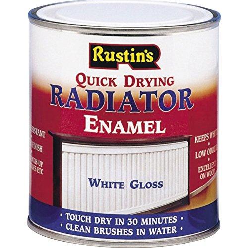 Rustins RADG250 250ml Quick Dry Radiator Paint Gloss, white gloss 250ml