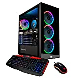iBUYPOWER Pro Gaming PC Computer Desktop Element MR9280 (Intel Core i9-9900 3.10Ghz, NVIDIA Geforce GTX 1660 Ti 6GB, 16GB DDR4 RAM, 1TB HDD, 240GB SSD, WiFi Included, Windows 10, VR Ready) Black