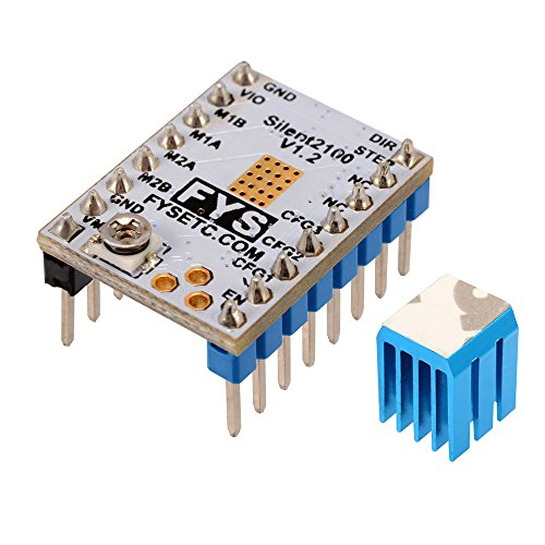 Youmile 5PACK Stepper Motor Driver Module A4988 For Reprap 3D Printer StepStick Stepper Motor Driver Module with Heatsink for arduino