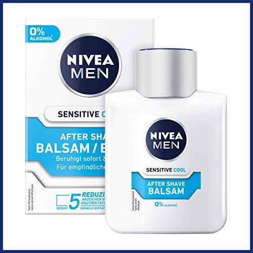 NIVEA MEN Sensitive Cooling Aftershave Balsem | Met kamille en zeerwier-extracten | Verzacht en kalmeert de huid | 3-pack, 3 x 100 ml