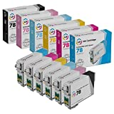 LD Remanufactured Ink Cartridge Replacement for Epson 78 (Black, Cyan, Magenta, Yellow, Light Cyan, Light Magenta, 6-Pack)
