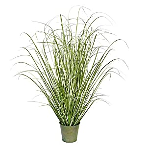 Vickerman Potted Grass Artificial-Plants, 24″, Green