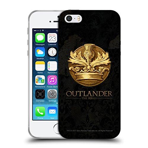 Head Case Designs Licenza Ufficiale Outlander Scozzese Appartenente All'Ordine del Cardo Sigilli E Icone Cover in Morbido Gel Compatibile con Apple iPhone 5 / iPhone 5s / iPhone SE 2016