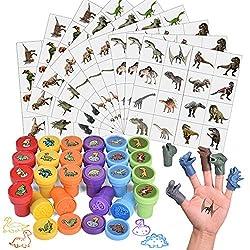 4. FUN LITTLE TOYS 174 Pcs Dinosaur Stamps Set