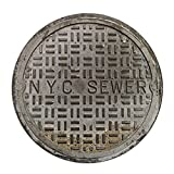 AU Funny Door Mats Sewer Cover Welcome Doormat NYC Sewer 2 Feet Round