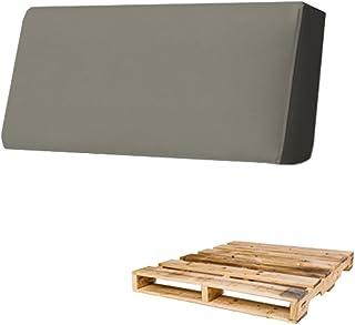Arketicom Coussin Palet DOSSIER Dehoussable pour Euro Palette ou Pallet Exterieur et Interieur, Matelas Canape avec Mousse...