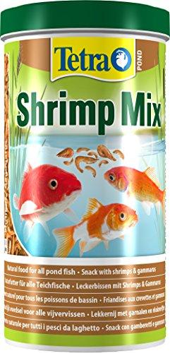 Tetra Pond Shrimp Mix Ergänzungsfutter (Leckerbissen für Teichfische aus natürlichen Shrimps und Gammarus, schwimmfähige Futtermischung), 1 Liter Dose - 2