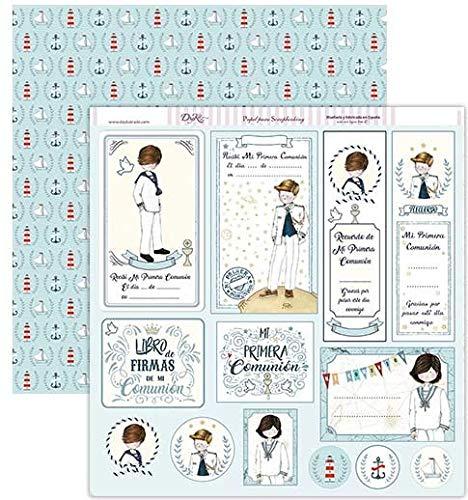 Dayka Trade Papel comunión niño etiquetas recordatorios, 1 unidad
