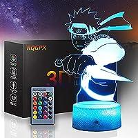 XKUN うずまき3Dイリュージョンランプナイトライトオプティカルベッドサイドテーブルナイトライトイルミネーションキッズランプ16色変更タッチボタンusbケーブルデコレーションデスクランプ,うずまき鳴門c