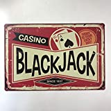 Casino Black Jack Since 1937, Vintage Bar Cafe Dekoration