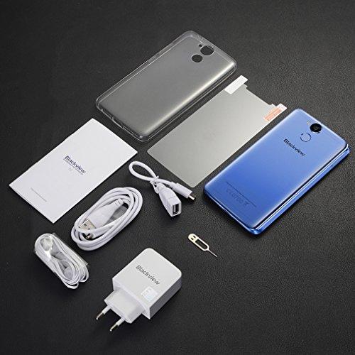 Kitechildhssd BLACKBIEW P2 Lite 5.5 Pulgadas 6000MAH Batería 3GB RAM 32GB ROM Teléfono para Android Azul