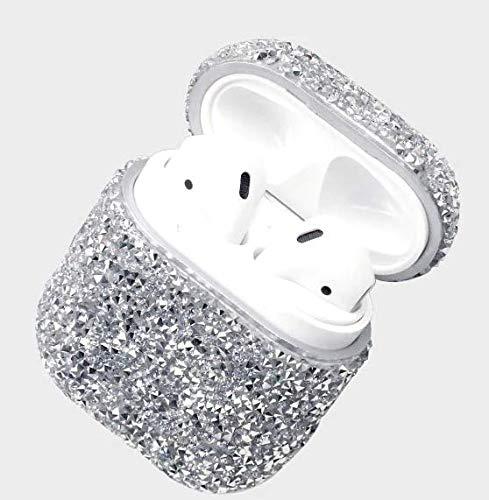 smartcoque - Carcasa para AirPods, diseño de diamantes de protección para Apple I10/I12 TWS, color plateado