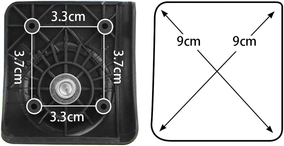 GUGULUZA Replacement Luggage Wheel Repair Travel Suitcase Parts Wheels,Couple GW041-BX
