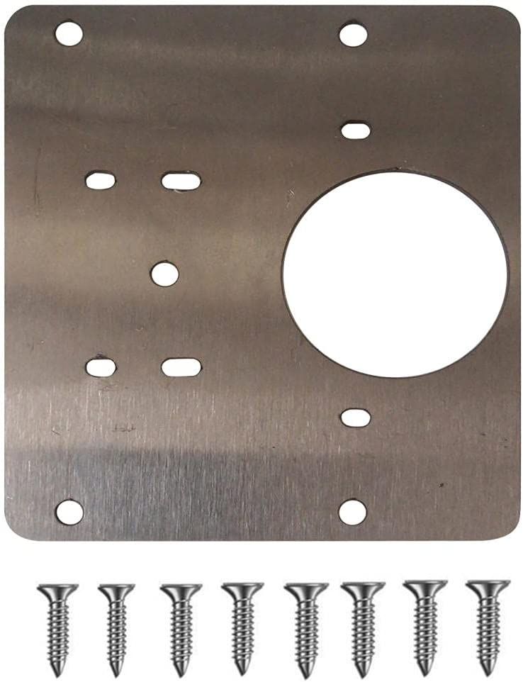 YUYO Very popular 2 Pieces Hinge Surprise price Repair Plates inches 3.15x3.54 Cabinet
