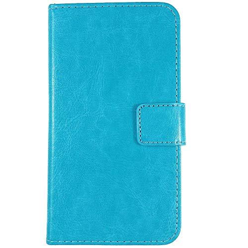 QHTTN Blau Leder Tasche Hülle Für TP-Link Neffos C5S 5