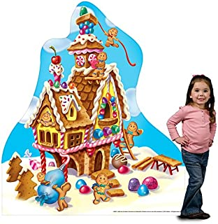 5 ft. 5 in. Candy Land Gingerbread House Standee Standup Photo Booth Prop Background Backdrop Party Decoration Decor Scene Setter Cardboard Cutout