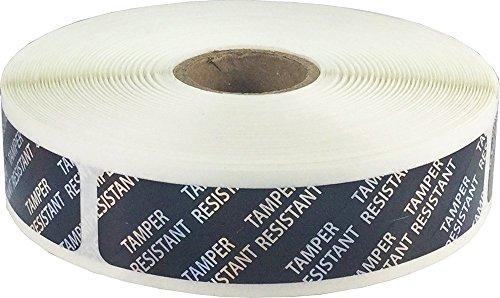 Negras Tamper Resistant Etiquetas Resistentes a la Manipulación, 19 x 89 mm 0,75 x 3,5 Pulgadas Pegatinas Holográficas 500 Paquete