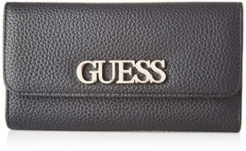 Guess Uptown Chic Slg Pocket Trifold Portamonete, Donna, Nero, Taglia Unica