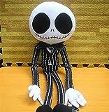 Juguete de felpa, cojín de almohada de peluche suave Tamaño grande La pesadilla antes de Navidad Jack Skeleton Dolls Película Horror de dibujos animados Halloween Niños Amigos Regalo 65cm