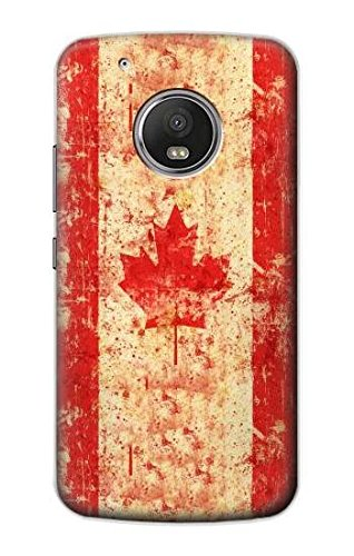 R1603 Canada Flag Old Vintage Case Cover For Motorola Moto G5 Plus