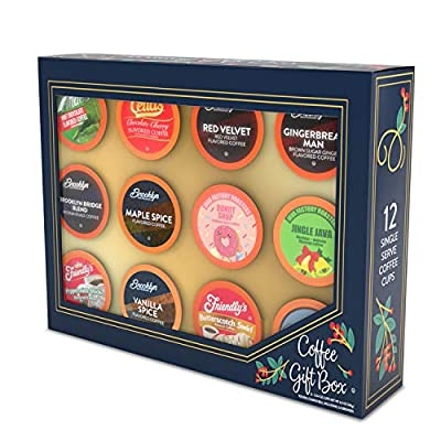 Two Rivers Coffee Gift Box, Coffee Variety, Compatible with 2.0 Keurig K Cup Brewers, Coffee Variety Gift Box, 12 Count