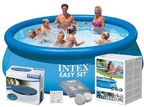 Intex 28130 366 x 76 cm 5621l Full Pool – Juego Easy – Set de Jardín Piscina + Protectora + cloro con accesorios: Amazon.es: Jardín