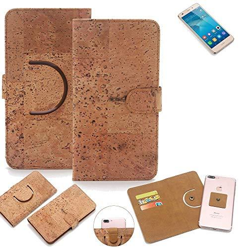 K-S-Trade Schutz Hülle Für Huawei GT3 Handyhülle Kork Handy Tasche Korkhülle Handytasche Wallet Hülle Walletcase Schutzhülle Flip Cover Smartphone