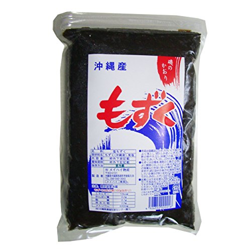 沖縄県産「塩もずく」(1kg)養殖 太もずく