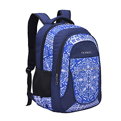 Backpack Rucksack for Women, Girls, Teens by Fenrici, 18 inch Durable Book Bags, 28 Liters, Supporting a Great Cause (Persistence, Medium)